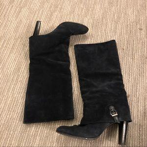 Delman Nancy Suede Knee Boots